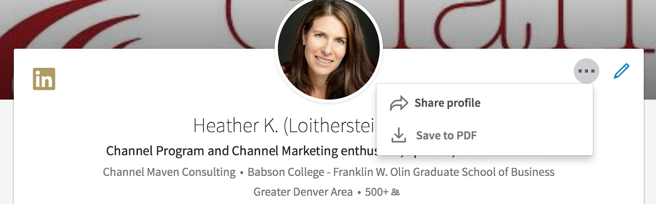 Heather's LinkedIn Profile